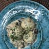 Галушки, фаршировані курятиною з грибним соусом Аристократ