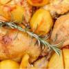 Курка з картоплею в духовці Сідра