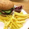 Бургер Свинина + картопля фрі Пастерія
