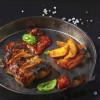 Стейк з свинячого ошийка в копченої паприці з часником, картоплею і соусом барбекю Grill Pub