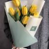 Желтые тюльпаны (7 штук) (№01) Light Wood