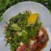 Салат з філе сьомги та крем-сиром 13-й Кордон