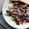 Салат с телятиной и вялеными томатами PUSHKA LOUNGE BAR