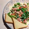 Салат с тунцом и спаржей  PUSHKA LOUNGE BAR