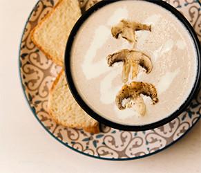 Грибной крем-суп  PUSHKA LOUNGE BAR