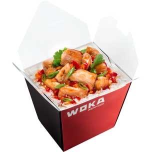 Курица Терияки с паровым рисом WOKA