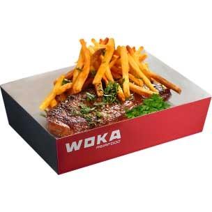 Стейк со свинины  WOKA